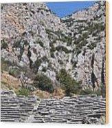 Delphi Stadium Ruins 2 Wood Print