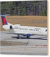 Delta Airlines ERJ-145LR Wood Print