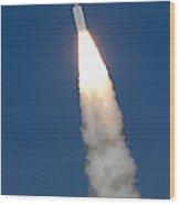 Delta II Rocket Wood Print