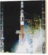 Delta Iv Rocket Wood Print