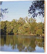 Delta Lake Reflections Wood Print