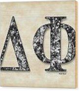 Delta Phi - Parchment Wood Print