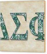 Delta Sigma Phi - Parchment Wood Print