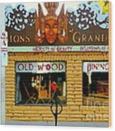 Delusions Of Grandeur Bank St Furniture Art Store On The Glebe Paintings Of Ottawa Scenes C Spandau Wood Print