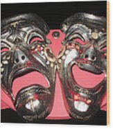 Masques / Tragedy/comedy Masks Wood Print