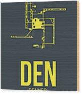 Den Denver Airport Poster 1 Wood Print by Naxart Studio