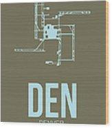 Den Denver Airport Poster 3 Wood Print
