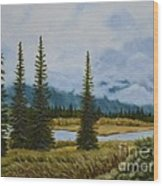 Denali Morning Wood Print