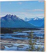 Denali Mountain Range Wood Print