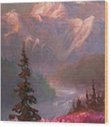 Denali Summer - Alaskan Mountains In Summer Wood Print