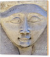 Dendara Carving 2 - Hathor Wood Print