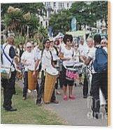 Dende Nation Samba Drum Troupe Wood Print