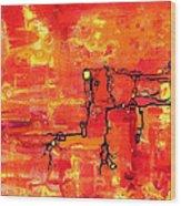 Dendritic Echoes Wood Print