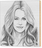 Denise Richards Wood Print