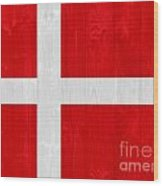 Denmark Flag Wood Print