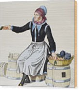 Denmark Vegetable Vendor Wood Print