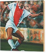 Dennis Bergkamp 2 Wood Print by Paul Meijering