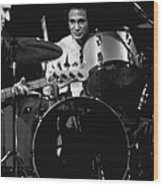 Denny Carmasi On The Drums In 1978 Wood Print