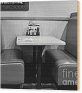 Denny's Booth Wood Print by Andres LaBrada