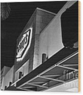 Denny's Store Front Wood Print by Andres LaBrada