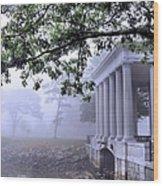 Dense Fog Plymouth Rock Canopy Wood Print