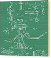 Dental Chair Patent Wood Print