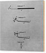 Dental Instrument Patent Drawing Wood Print