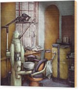Dentist - Dental Office Circa 1940's Wood Print