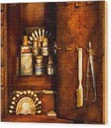 Dentist - The Dental Cabinet Wood Print