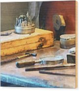 Dentist Workbench Wood Print