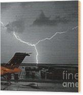 Denver Airport Wood Print
