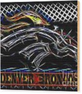 Denver Broncos 4 Wood Print
