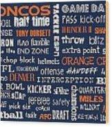 Denver Broncos Wood Print