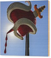 Denver Bulb Heart Wood Print