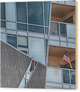 Denver Diagonal Lines Wood Print