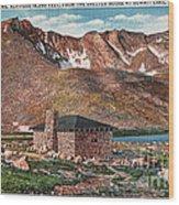 Denver Mountain Parks Antique Post Cards Wood Print