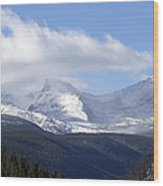 Denver Mountains Wood Print by Julie Palencia