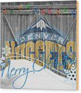 Denver Nuggets Wood Print