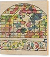 Denver Nuggets Poster Retro Wood Print