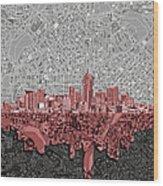 Denver Skyline Abstract 2 Wood Print