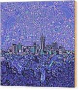 Denver Skyline Abstract 4 Wood Print