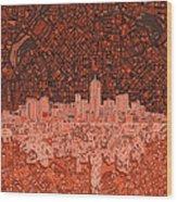 Denver Skyline Abstract 6 Wood Print