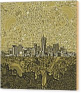 Denver Skyline Abstract 8 Wood Print