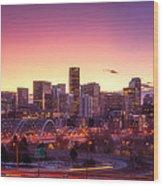 Denver Sunrise Wood Print