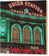 Denver's Union Station Wood Print