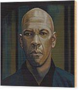 Denzel Washington In The Equalizer Painting Wood Print