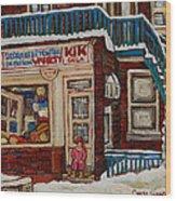 Depanneur Kik Cola Montreal Wood Print