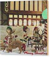 Department Store Window Wood Print