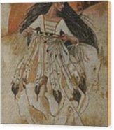 Departure Of White Buffalo Woman Wood Print by Pamela Mccabe