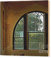 Depot Window Wood Print